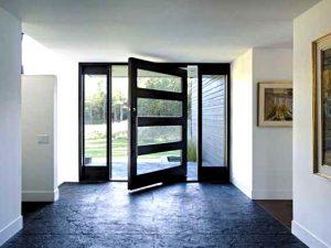 bejárati üvegajtó