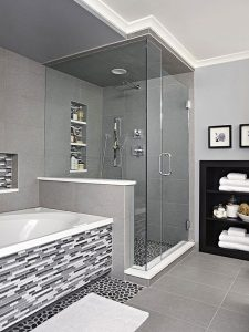 Kis fürdőszobák zuhanykabinnal